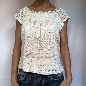 TopShop lace Shirt Top Women's 4